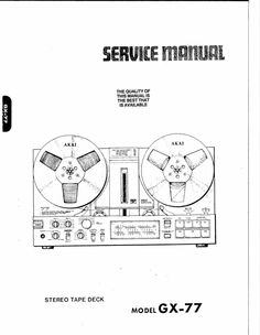 Akai GX-255 reel to reel tape recorder Service Manual
