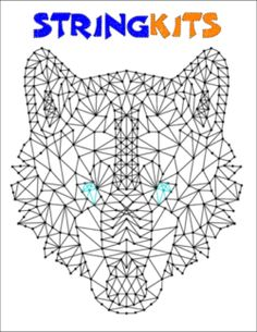 wolf string art String Art Templates, String Art Patterns, Diy Arts And Crafts, Hobbies And Crafts, Anchor String Art, Nail Pictures, Bubble Art, Resin Crafts, Flower Crafts