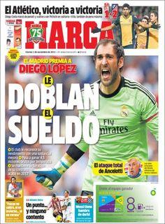 Los Titulares y Portadas de Noticias Destacadas Españolas del 1 de Noviembre de 2013 del Diario Deportivo MARCA ¿Que le pareció esta Portada de este Diario Español?