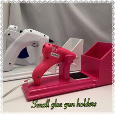 Small Glue Gun holder , Scrapbooking Storage , glue gun , Craft room, Glue Gun Holder , Glue Gun Stand , Decoden Glue by BellaDecoCreations on Etsy https://www.etsy.com/listing/230057998/small-glue-gun-holder-scrapbooking