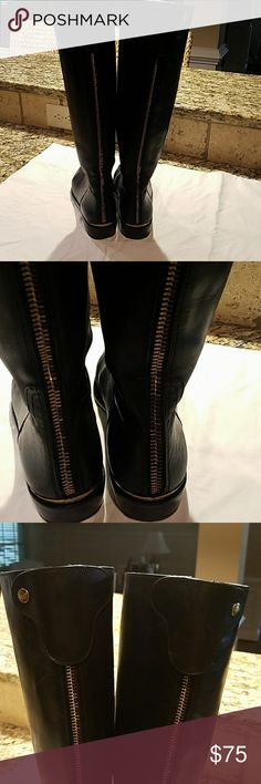 COACH BOOTS SIZE 10B Coach boots size 10B Gently Worn Black Leather 18 inches in height Coach Shoes Winter & Rain Boots