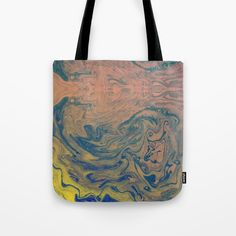 Pink Neon Marble - Earth Gum #nature #planet #marble Tote Bag