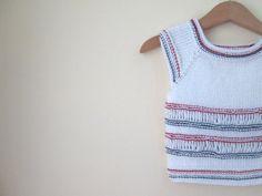 Little Girl or Boy blouse  Organic Cotton Yarn  by IMUNIVERSE, $17.90