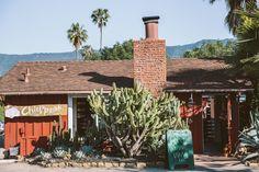 Chief's Peak Bar at Ojai Rancho Inn - fun and funky hotel in Ojai, California on our road trip   Emilie Waugh Photography