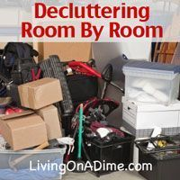 Are you frustrated by all the clutter and sure you can't get through it all. Click here for easy simple steps that you can do TODAY to get rid of your clutter and finally get organizeed. http://www.livingonadime.com/decluttering-your-home/