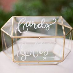 When @bhldn and the lettering obsessed collide... a hand lettered card holder…