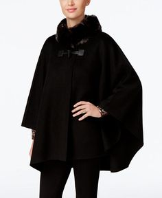 179.99$  Buy now - http://vivvl.justgood.pw/vig/item.php?t=kmsz3710895 - Faux-Fur-Collar Double Faced Toggle Cape