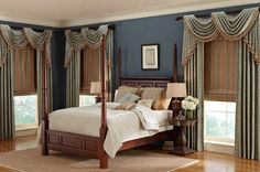 Classic Roman Shades and Side Panels