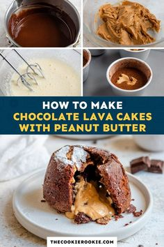 These Chocolate Lava Cakes have a soft, spongey exterior and gooey, molten chocolate peanut butter center.  Shockingly simple to make, this is an easy dessert recipe perfect for entertaining or a holiday table. #lavacakes #easydessert #chocolate #holidaydessert Chocolate Lava Cake, Chocolate Treats, Chocolate Peanut Butter, Christmas Desserts, Easy Desserts, Dessert Recipes, Lava Cakes, How To Make Chocolate, Sweet Recipes