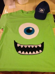 diy halloween costumes mike wazowski - Homemade Halloween Shirts