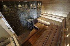 Saunagalleria I SUN SAUNA Oy I Ideoita saunaremonttiin, saunaideat Sauna Shower, Finnish Sauna, Steam Sauna, Infrared Sauna, Saunas, Lawn And Garden, Home And Living, Spa, Relax