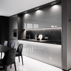 Modern Kitchen Design for 2020 – Important Factors For Choosing The Right Luxury Kitchen Design Kitchen Room Design, Luxury Kitchen Design, Kitchen Cabinet Design, Luxury Kitchens, Home Decor Kitchen, Interior Design Kitchen, Kitchen Ideas, Kitchen Inspiration, Gray Kitchens
