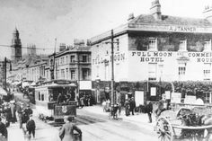 The Full Moon Hotel, Southgate Street and Dorchester Street, Bath, c.1908