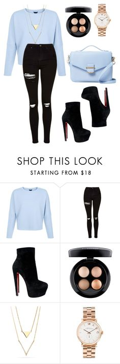 """Blue.....and stuff"" by itsamandarose on Polyvore featuring Topshop, Christian Louboutin, MAC Cosmetics, Marc by Marc Jacobs and Cynthia Rowley"