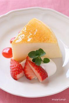 ★お菓子レシピ★ ふわしゅわ* スフレチーズケーキ リクエストレシピ(31) : marimo cafe
