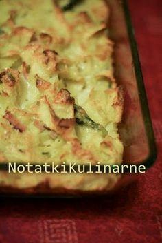 Makaron zapiekany ze szparagami i serem brie