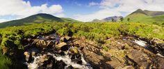 Irish Mountain Range And Valley