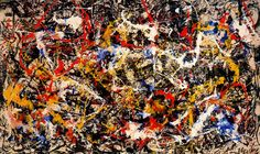 Convergence, Jackson Pollock 1952 — Daily Art Fixx - Art Blog: Modern Art, Art History, Painting, Illustration, Photography, Sculpture