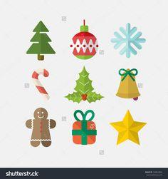 Christmas Icons Stock Vector Illustration 160823804 : Shutterstock