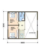 проект дома из sip панелей -Тенистый дуб