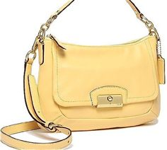 Coach Kristin Leather East West Crossbody Handbag Purse 22308 Buttercup Yellow Coach,http://www.amazon.com/dp/B00BW4VNO0/ref=cm_sw_r_pi_dp_u83Osb17N346539A