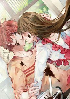 Anime Couples Mystic Messenger- Mc x Choi Saeran (Unknown) Mystic Messenger Unknown, Mystic Messenger Characters, Mystic Messenger Fanart, Manga Couple, Anime Couples Manga, Cute Anime Couples, Chica Anime Manga, Anime Kawaii, Manga Font