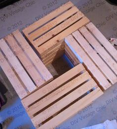 crate table ideas | figured out the arrangement of the crates. Don't worry about the ...