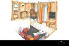 ländliches Wohn- & Esszimmer Modern, Abstract, Artwork, Painting, Neuschwanstein Castle, Living Dining Rooms, New Construction, Interior, Homes