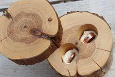 Nature Wedding Ring Box Ring Bearer Rustic by MountainUrsusDesigns