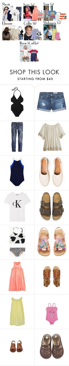 """Tuesday // Lazy Pool Day // 12/27/16"" by graywolf145 ❤ liked on Polyvore featuring Tory Burch, AG Adriano Goldschmied, J.Crew, Calypso St. Barth, Lands' End, Calvin Klein, Birkenstock, Sunuva, Armani Junior and Jacadi"