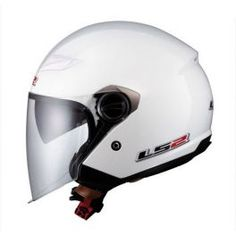 OF569 PEARL WHITE HELMET - LCS Motorparts
