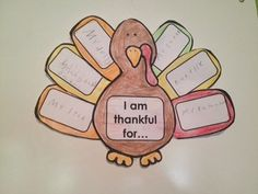 Thanksgiving Turkey - Writing Activity I love making these with my students and they look very pretty hanging up!