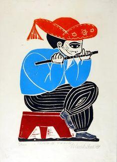 A Casa • Casa-Museu do Objeto Brasileiro • Tocador de pífano Arte Popular, Brazil Art, Abstract Faces, Pattern Illustration, Craft Patterns, Art Images, Art Inspo, Printmaking, Folk Art