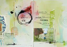 lovely art journal spread