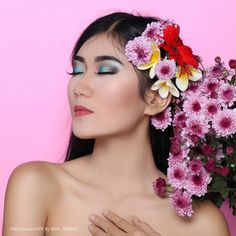 Beauty shoot with flower