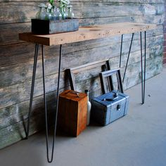 Rustic Console Table - 4 Ft