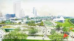 The Hanging Gardens by AECOM for the Lakefront Gateway Project National Design Competition