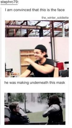 Sebastian ⭐ Stan (One of the reasons he was wearing a mask so he could smile under it without being seen)