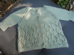 Free Garter Yoke Baby Sweater Pattern by Jennifer Hoel mods by leasim