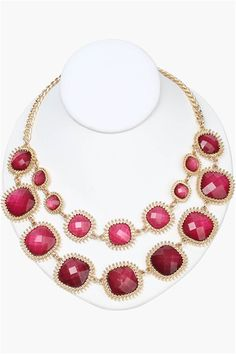 Cherry Statement Necklace