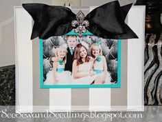 See Sew and Seedlings: Picture Frame Tutorial