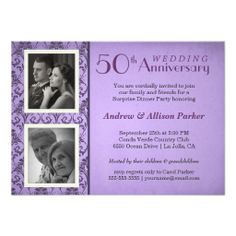 Vintage Damask Anniversary Two Photos Invitation In our offer link above you will seeDiscount Deals          Vintage Damask Anniversary Two Photos Invitation lowest price Fast Shipping and save your money Now!!...