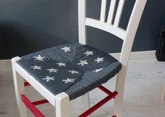 Peindre le rotin, l'osier ou la paille d'une chaise - Eleonore Déco Outdoor Furniture, Outdoor Decor, Vanity Bench, Floor Chair, Armoire, Ottoman, Flooring, Diy, Google