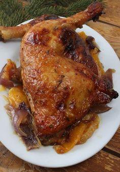 Boldog Kukta: Narancsos - mézes csirkecombok Meat Recipes, Baking Recipes, Chicken Recipes, Honey Chicken, Bbq Chicken, Chicken Legs, Low Calorie Dinners, Good Food, Yummy Food