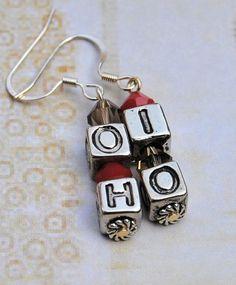 O  H  I  O Earrings  OSU Buckeyes Earrings by AutismLoveHope, $6.00