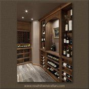 Rosehill - Walnut Wine Cellar with Beeswax Finish, construct your own #wineroom with Rosehill Wine Cellars #winecellars #winestorage
