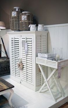 Cute storage ideas for smaller spaces.