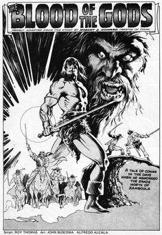 Awesome Conan page by John Buscema