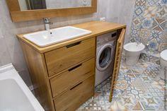 Мебель ручной работы. Тумба в ванную комнату BrickLine. INTERIOR ELEMENTS. Ярмарка Мастеров. Стиральная машина, массив дуба