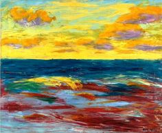 Emil Nolde - Sea of Alsen, 1910. Oil on canvas, 28 1/2 x 34 5/8 in. (72.5 x 88 cm.). @ Sotheby's Images, London, 03 February 2016